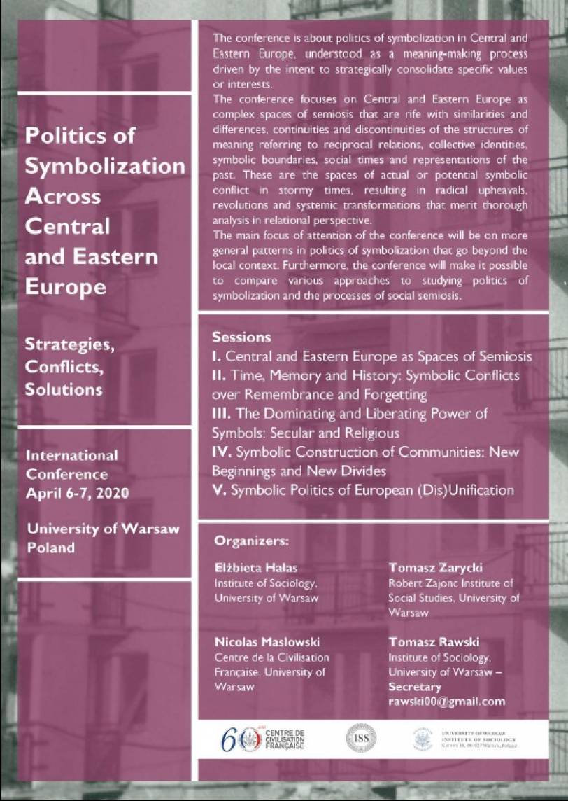 Politics of Symbolization Across Central and Eastern Europe